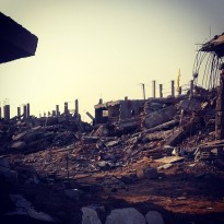 Entire neighborhoods in the Shujaiyya area of Gaza City were razed by Israeli attacks during the summer war. (Photo: Patrick O. Strickland)